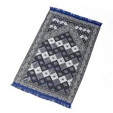 卸売青赤祈るマットmashaallahサラッmusallah祈り毛布70 × 110センチメートル旅行イスラム教徒祈りマット/ラグ/カーペット