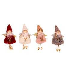 Plüsch Engel Anhänger/Nette Mädchen Hängen Perle Puppe/WEIHNACHTEN Decor/Desktop Fenster Dekoration/Weihnachten Baum Kleid up/Weihnachten Geschenk