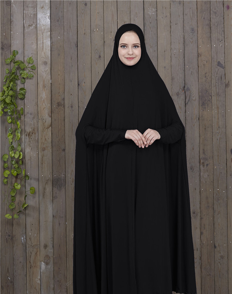 Muslim Prayer Garment Dress Women Islamic Clothing Thobe Jilbab Burka Dubai Turkey Jurken Abaya Prayer Khimar Hijab Dress Kimono