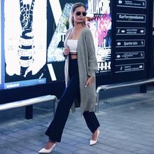ALLNeon Fashion Ladies Long Cardigans Solid Pocket Hem Slit Long Sleeve Knitted Cardigan Oversized Sweater Kardigan Autumn 2019 burgundy long sleeves irregular hem knitted cardigan