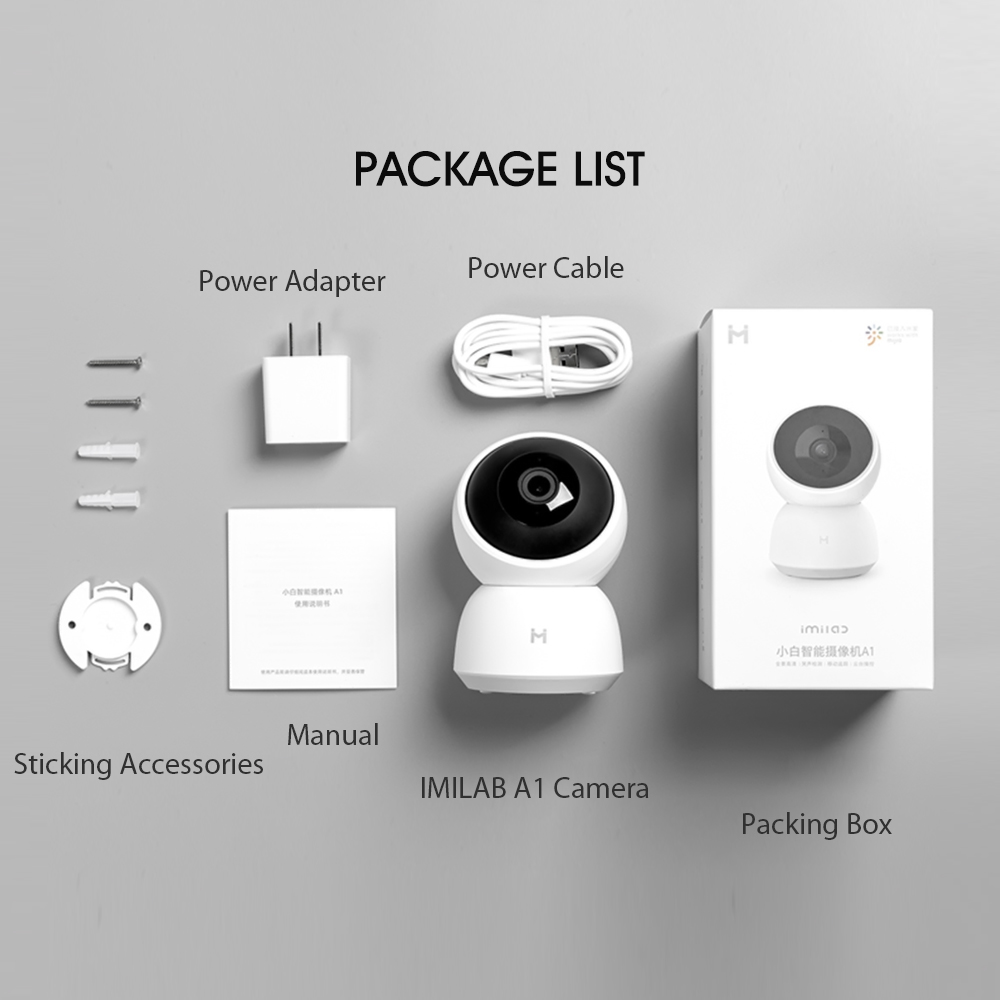 Xiaomi IP Camera 2K 1296P HD Smart Camera A1 Webcam WiFi Night Vision 360° Video Camera Baby Security Monitor For Mi Home App