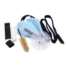HHO-Очистка саксофона инструмент KitCleaning ткань+ пробковая смазка+ щетка+ подставка для большого пальца+ Рид Чехол