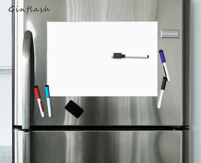 A3/A4/<font><b>A5</b></font> Soft Fridge Flexible pet light <font><b>Whiteboard</b></font> Message Board Magnetic Notes Refrigerator waterproof 1marker&2button image