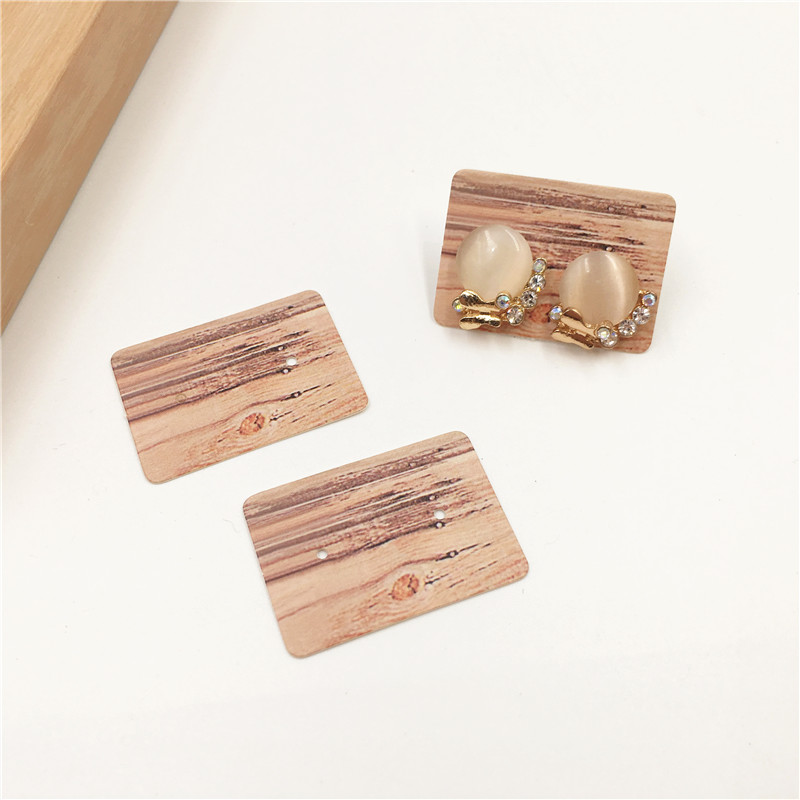 50pcs 3.5x 2.5cm Mini Lovely Earrings/Ear Nails Price Label Card DIY Handmade Fashion Jewelry Display Card