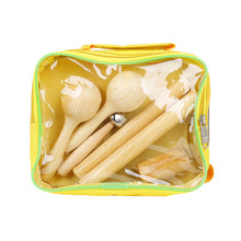 Percussion-Set Storage Musical-Instruments with Carry-Bag Educational Wooden Plastic