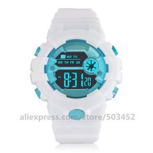 Sport Stopwatch Women Rubber Digital Electronic Waterproof HONHX Luxury Date LED