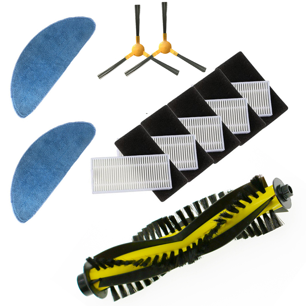 Roller Brush Side Brush Mop Cloth Kit For Mamibot Exvac660 Vacuum Cleaner Parts Side Brushes Replacements