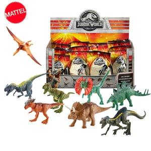 Original Jurassic World Mini Dinosaur Model Blind Pack Toy Capsule Toys Animal Tyrannosaurus Velociraptor Boy Anime Figure Gift(China)