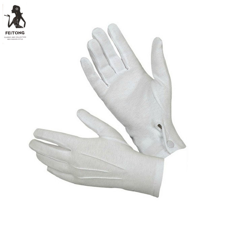 1Pair White Formal Gloves Tuxedo Honor Guard Parade Santa Winter Gloves Tactical Guantes Warm Soft Handschoenen C30107