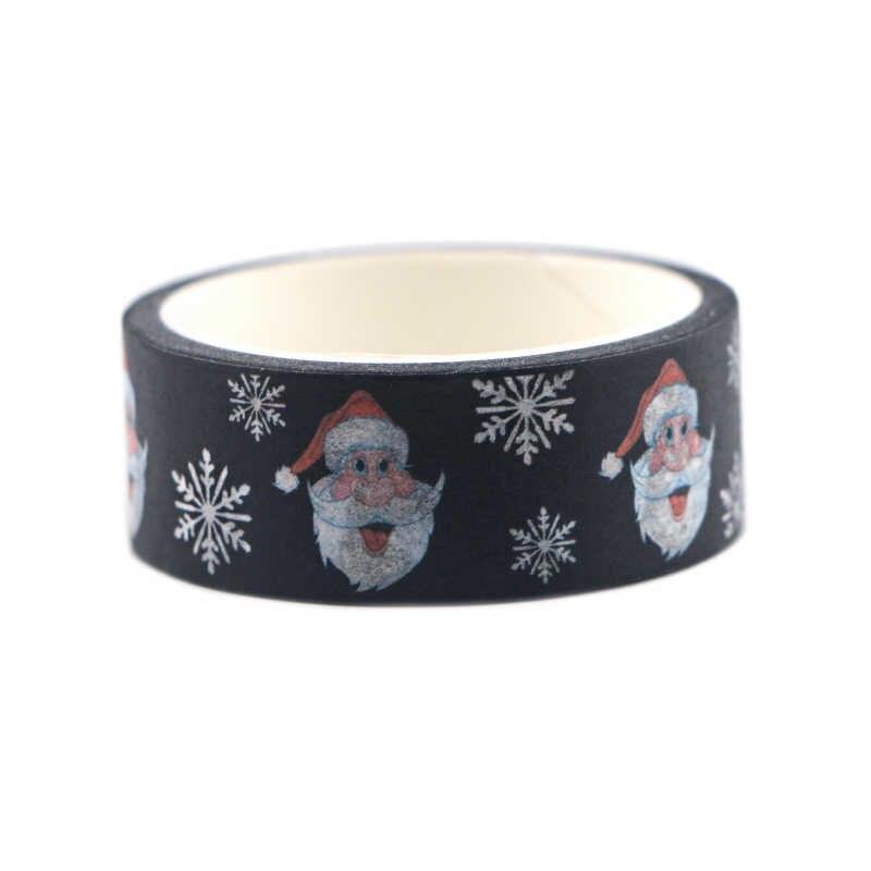 Blinghero Navidad 15mmX5m Washi Tape negro cinta adhesiva Diy cinta adhesiva cintas de impresión Scrapbooking Sticker HX1180