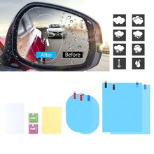 8 pcs car rear mirror protective fog window clear rainproof