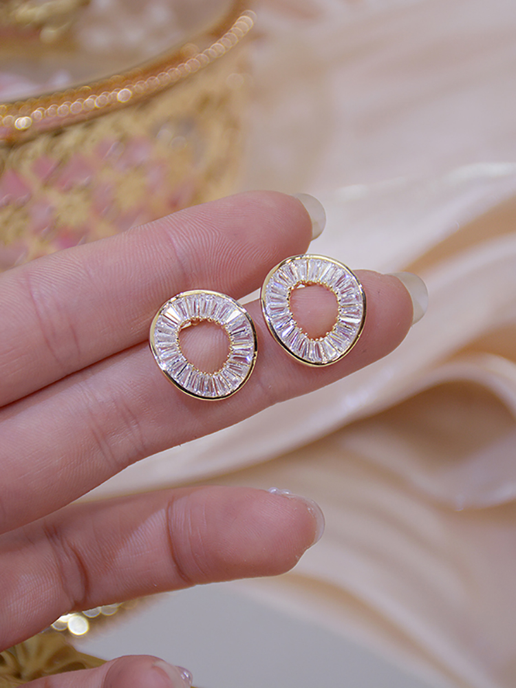 Circle-Earring Wedding-Pendant Irregular Brincos Real Gold Personality Women Fashion