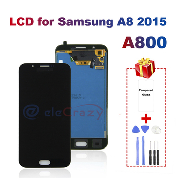 AAA LCD For Samsung Galaxy A8 A800 A8000 A800F Display Touch Screen Digitizer Assembly Replacement TFT 100% Tested Free Gift 100% tested aaa quality for samsung galaxy a5 2015 a500 a500f a500m replacement lcd display with touch screen digitizer assembly