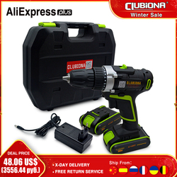 CLUBIONA high performance Powerful and Certificated Rated voltage 20V lithium-ion battery cordless electric drill Screwdriver