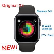IWO 11 X8 Smart Uhr X6 für Männer Frauen Unterstützung Bluetooth Anruf Herz Rate Schrittzähler Smartwatch Uhr Serie 5 IWO 10