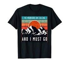 As montanhas estão chamando e eu tenho que ir! Camiseta arte retro do vintage