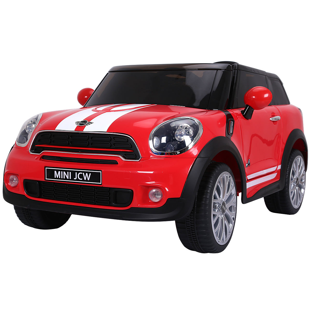 12V Electric MINI PACEMAN Kids Ride On Car Licensed R/C Remote Control MP3 Red