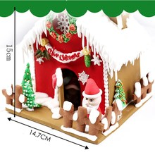 Enipate New Christmas 9Pcs/Set Cookie Cutters 3D Gingerbread House Stainess Steel Fondant Cake Mould Biscuit Mold Baking Tools(China)