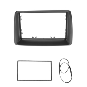 Image 2 - 2 Din Radio Fascia For FIAT Panda 2003  2012 Double din frame Stereo Panel Dash Mount Installation Trim Kit Frame Plate Bezel