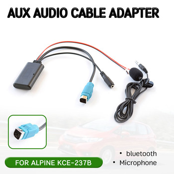 Adaptador de Cable receptor Aux bluetooth con micrófono para Alpine KCE-237B, interfaz...