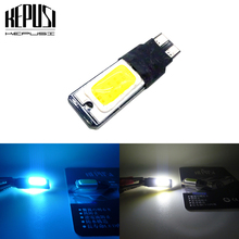 T10 W5W 194 168 LED COB LED Side Wedge Light LED Auto Car Parking Lamp Bulb Dome Number Lamp White Ice blue t car styling 2 x led car clearance parking lights t10 w5w 168 192 led car side wedge light 6000k white blue lamp bulb car styling 12v