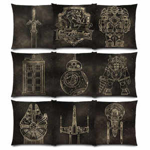 Pillow-Case Good-Cushion-Cover Zelda-Link Millennium Tardis Bb8 Hogwarts Falcon-X-Wing