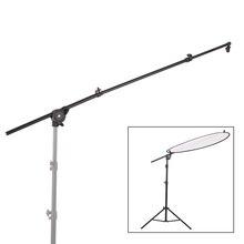 Difusor con soporte extensible para Reflector de estudio fotográfico, brazo de soporte con clip, abrazadera de cabeza giratoria Flexible