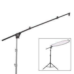 Image 1 - Wysuwany Photo Studio reflektor do zdjęć uchwyt dyfuzora stojak podparcie ramion wysięgnika z elastycznym uchwytem obrotowym