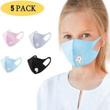 Mask Cotton Protection Halloween Cosplay Reusable 5pcs Fun Children for Rgb Kids