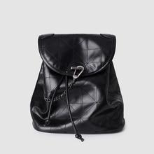 цена на 2020 New Women's Bag Black Flap Soft Backpack Fashion Rhombus Large Capacity Bag Student's Backpack Shoulder Bag