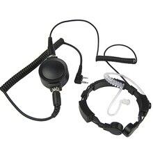 Xqf militar tático garganta microfone microfone fone de ouvido para kenwood baofeng uv 5r GT 3 GT 3TP DM 5R BF F8HP cb rádio walkie talkie
