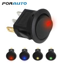 FORAUTO 16A 12V Светодиодный точечный светильник, переключатель для автомобиля, лодки, круглый Кулисный переключатель включения/выключения SPST, Водонепроницаемые Универсальные внутренние части