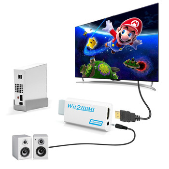 200PCS Full HD 1080P W ii to HDMI Converter Adapter Wii2HDMI Converter 3.5mm Audio for PC HDTV Monitor Display 200pcs 2sa1015 a1015 to 92