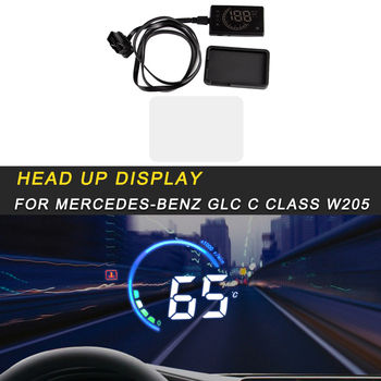 For Mercedes Benz C Class W205 2016-2019 Car HUD Head-Up Display Overspeed Warning Windshield Projector Alarm System
