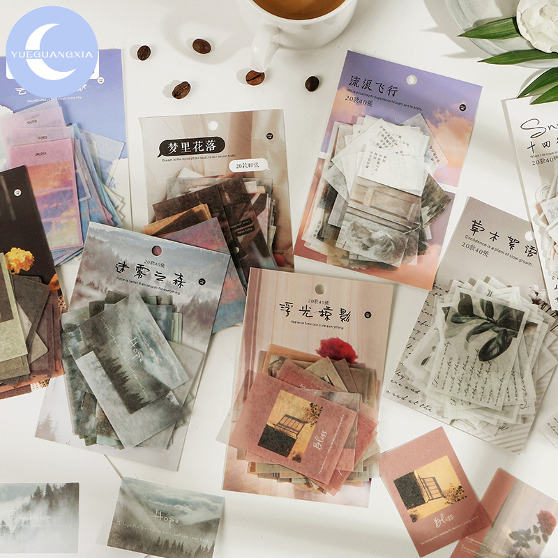 YueGuangXia 8 Design Serendipity Life Piece Escol DIY Project Album Diary Deco Planner Photos Junk Scrapbooking Background Craft