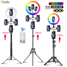 13 inch RGB Ring Light tripod 10 inch LED Ring Light Selfie Ring Light with Stand RGB 26 colors video light For Youtube Tik Tok