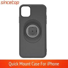 Giá Đỡ Điện Thoại Trên Xe Đạp Với Nhanh Mount Adapter Ô Tô Kẹp Đai Dành Cho Iphone 11 Pro XsMax 8 Plus 7 6 6S 5 5S SE Gắn Xe Đạp