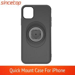 Image 1 - Soporte de teléfono para bicicleta con adaptador de montaje rápido, funda con Clip para cinturón de coche para iphone 11 pro XsMax 8 Plus 7 6 6s 5s SE