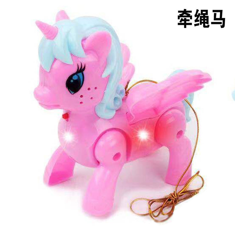 Light And Sound Electric Leash Horse Electric Pegasus Walk Horse