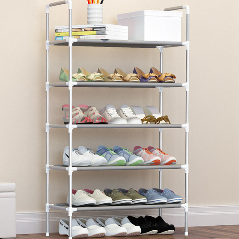 Bahmetev Simple Multi-layer DIY Assembly Metal Iron Shoe Shelf Student Dormitory Shoe Storage Rack Large Capacity Shoe Cabinet 4