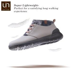 Image 4 - UIN ฤดูใบไม้ร่วง/ฤดูใบไม้ผลิยืดหยุ่นรองเท้าบูทแฟชั่นผู้หญิง/ผู้ชายหนังนิ่มสบายแบนรองเท้า BOOT กลางแจ้งขนาดใหญ่น้ำหนักเบา