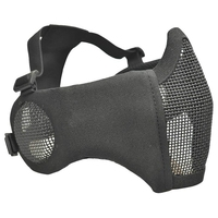 Maska siatki maska myśliwska CS gry maska Camo stalowa półmaska ochronna dolna maska dla dorosłych oddychająca  czarna w Maska kolarska na twarz od Sport i rozrywka na