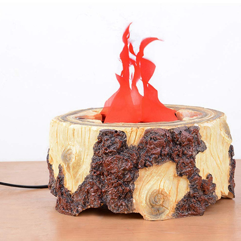 LED Resin Flame Lamp Artificial Fake Fire Lamp Halloween Christmas Party Decoration Lamps US Plug - 5