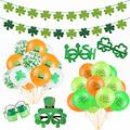 В стиле Св. Патрика День Святого Валентина вечерние Decortions Irish Day Зеленый Клевер баннер шар Святого Патрика в Ирландском день смешной реквизи...