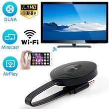 Receptor de pantalla inalámbrica HDMI para iPhone, android, adaptador de espejo fundido, Dongle de recepción inalámbrica HDMI