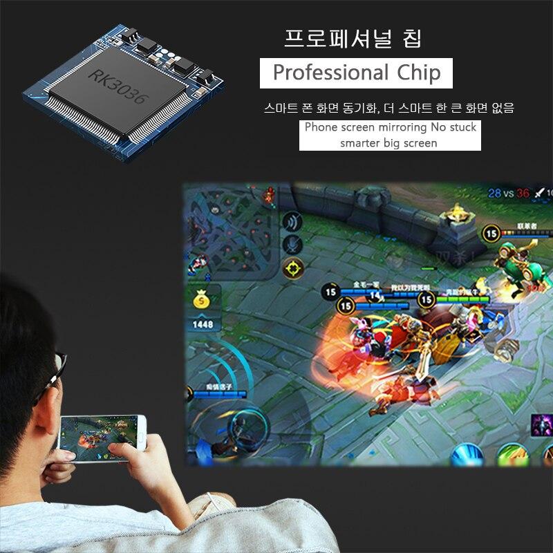 AUN MINI projecteur X3, miroir d'écran de téléphone Android/IOS, système multimédia, projecteur Portable pour 1080P Home Cinema, projecteur 3D - 3