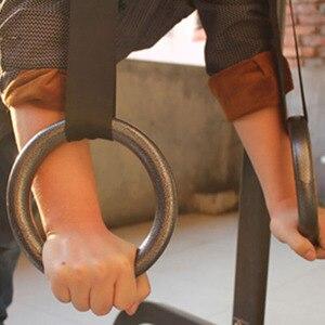 Image 5 - 1 쌍 ABS 체조 반지 끌어 오기 후프 Crossfit 근육 Ups 체조 훈련 반지 홈 휘트니스 체육관 훈련 운동 장비