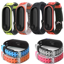 Silicone sports strap Soft breatherable band For Xiaomi Mi Band 4 Strap compatible with 3 Smart Watch Accessories