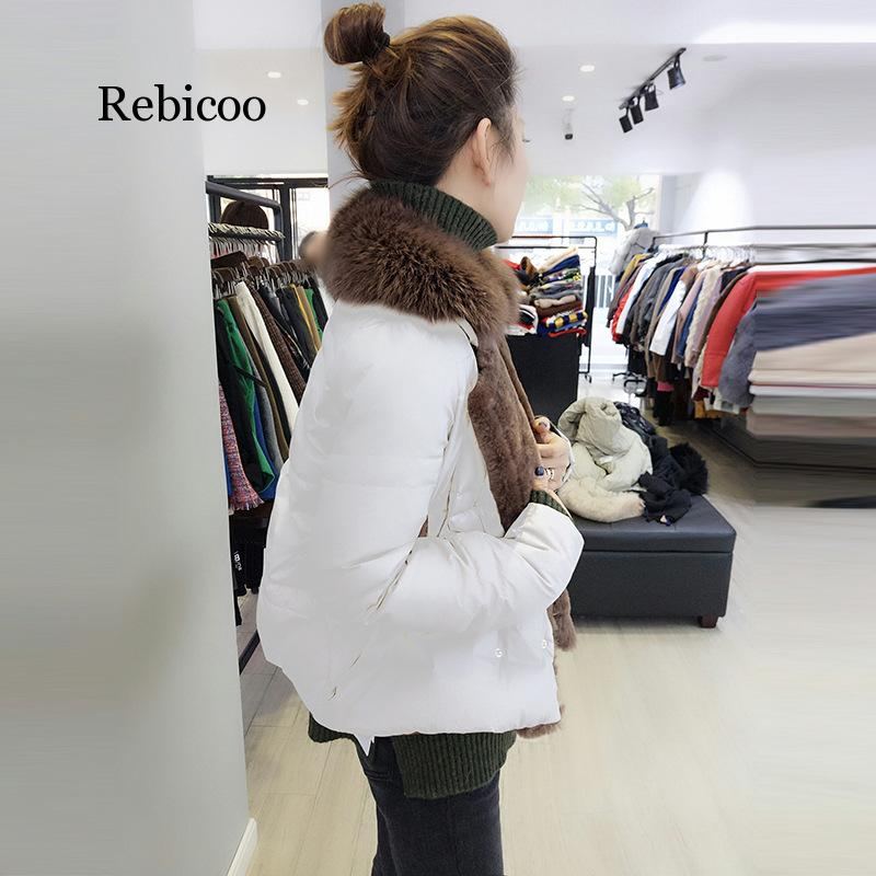 Rebicoo Fall And Winter Clothes New Style European Goods Thin Women's Korean style Slim Fit Fur Collar on AliExpress