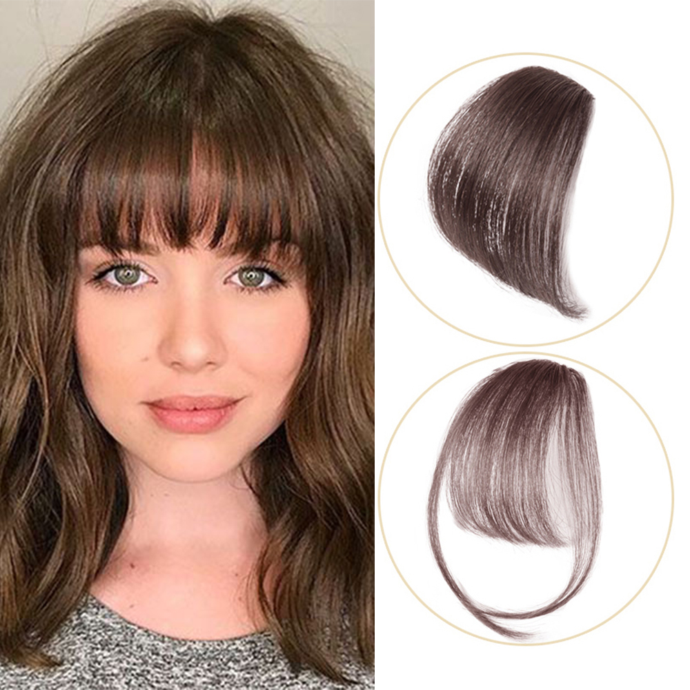 clip in human hair bangs fringe straight hair,bangs,100% Real human hair,black,brown,red brown clip remy Hair bangs Salonchat